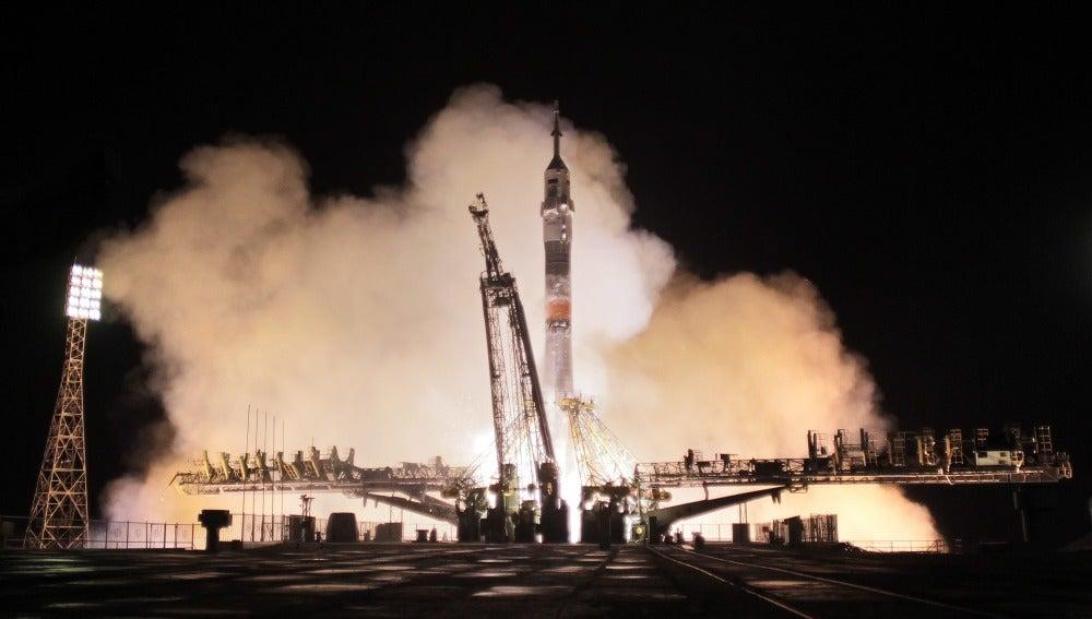 Fase del lanzamiento de un cohete Soyuz