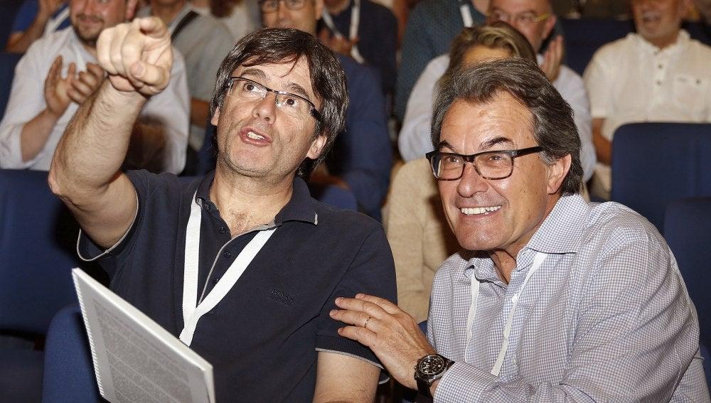 Carles Puigdemont y Artur Mas