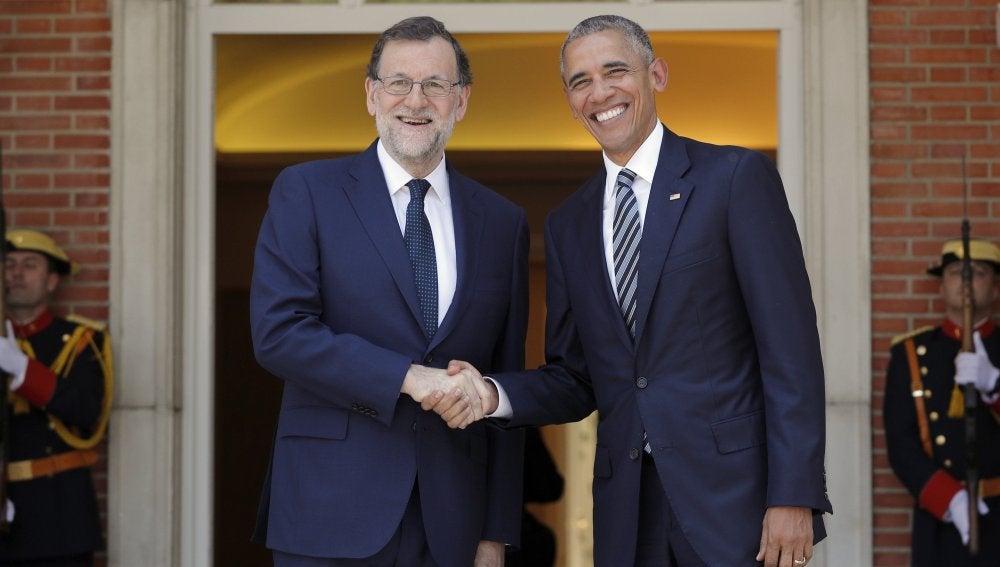Rajoy recibe a Obama en la Moncloa
