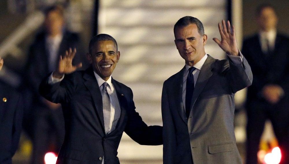 """El rey Felipe VI y Barack Obama resaltan la """"estrecha relación"""" entre España y Estados Unidos"""