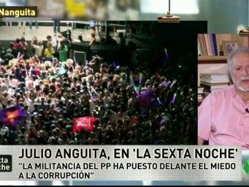 """Frame 24.004729 de: Julio Anguita: """"Unidos Podemos puede triunfar en cuatro años porque el adversario político nos lo va a facilitar"""""""