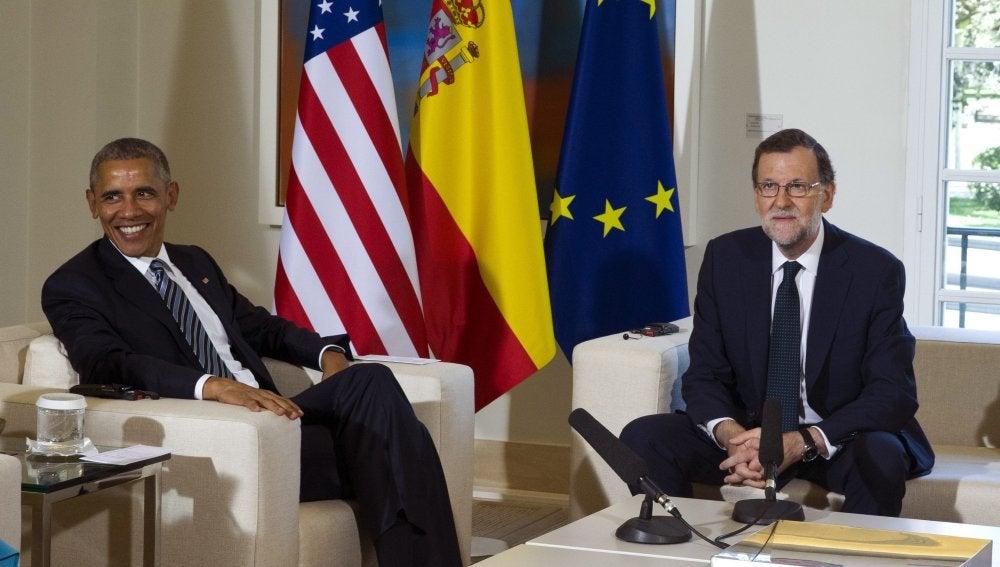 Obama junto a Rajoy