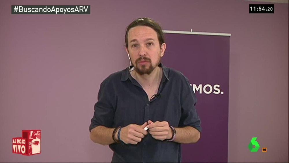 """Iglesias: """"El PSOE tiene toda la responsabilidad porque deberá elegir entre un Gobierno de Rajoy, uno progresista o terceras elecciones"""""""