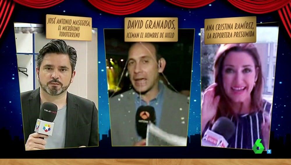 Frame 23.57555 de: José Antonio Masegosa, David Granados y Ana Cristina Ramirez, nuevos nominados a mejor reportero del año