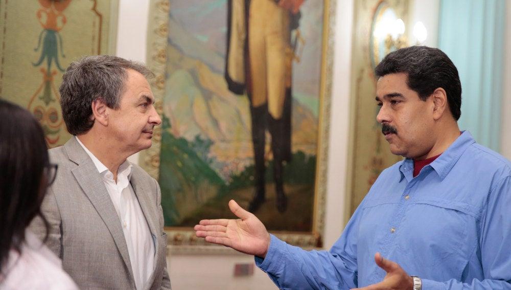 Zapatero en su reunión con Nicolás Maduro