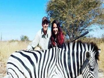 Jayce Carroll cazando en Botswana