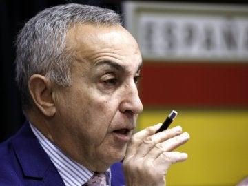 Alejandro Blanco, durante la rueda de prensa