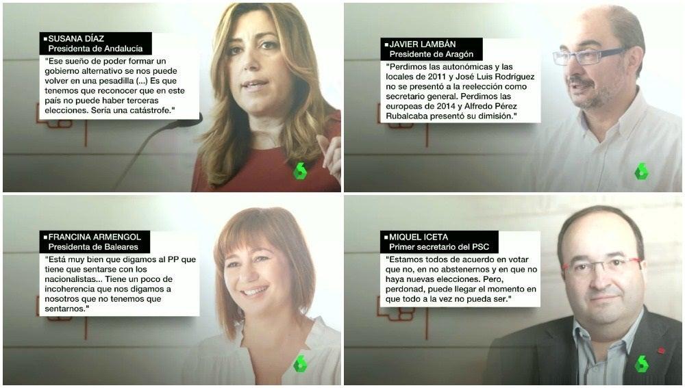 Los reproches de los barones de PSOE en el último Comité Federal salen a la luz