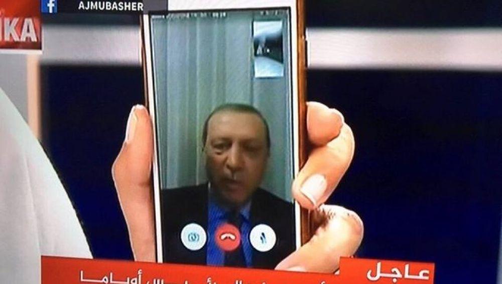 Mensaje de Erdogan a los turcos durante el intento de golpe