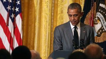 Obama realiza unas declaraciones en la Casa Blanca