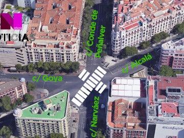 Nuevo cruce de peatones en Madrid.