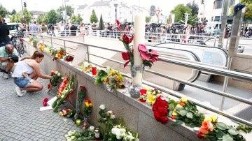 Múnich se llena de flores por los nueve muertos
