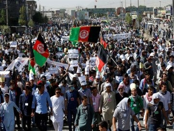La manifestación ha sido cerca de la universidad de Kabul