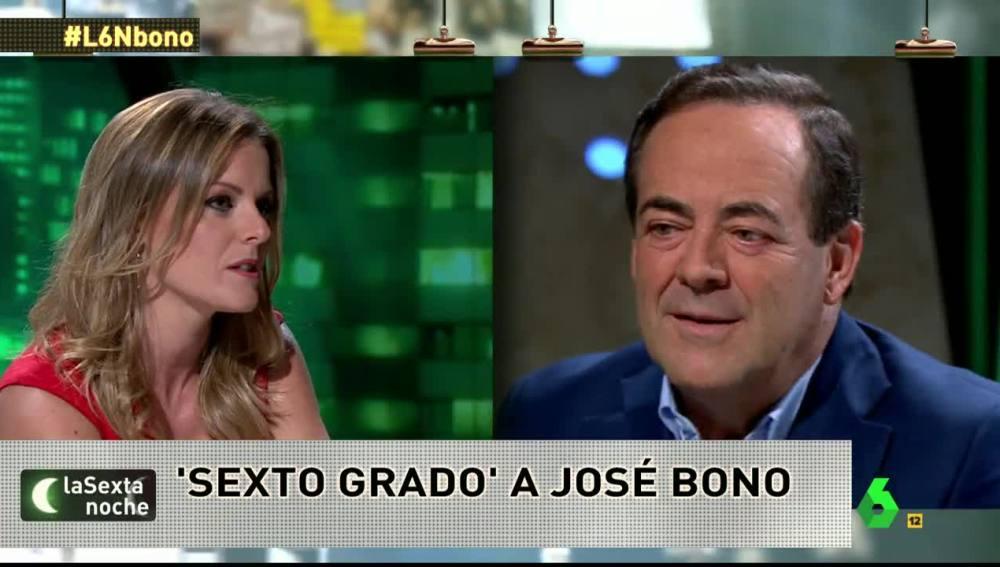 José Bono se somete al 'sexto grado' de Andrea Ropero