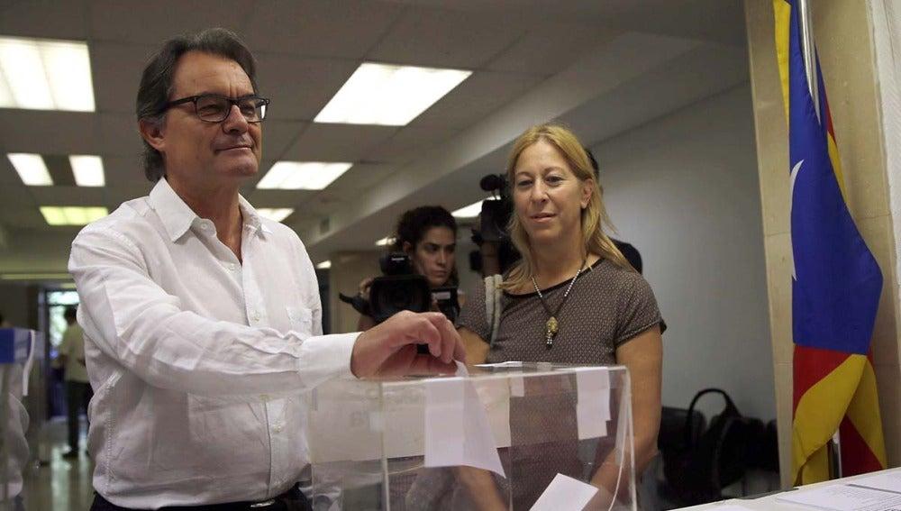 Artur Mas en las primarias de la antigua CDC
