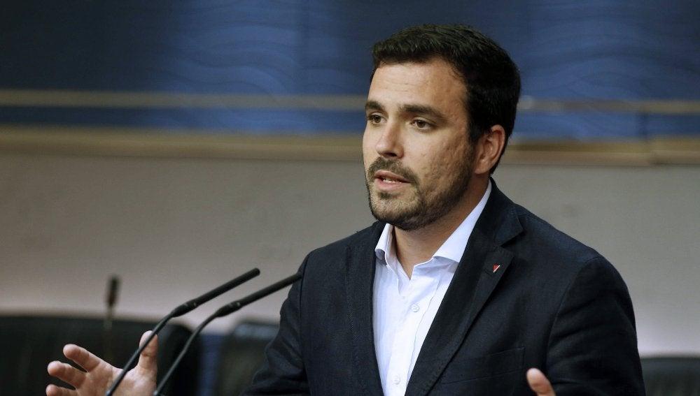 Alberto Garzón, líder de Izquierda Unida