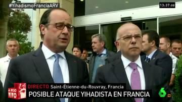 Hollande habla del ataque en Normandía
