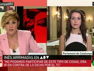 """Frame 42.725889 de: Inés Arrimadas, sobre la marcha de C's del Parlament: """"No podemos participar en este tipo de cosas, es ir contra el TC"""""""