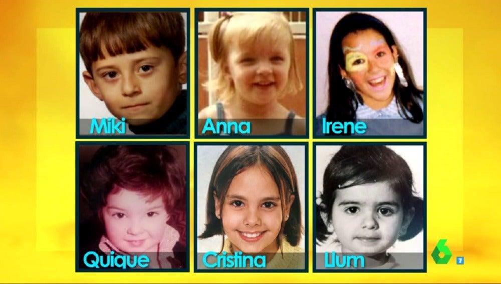 """Frame 12.436348 de: Miki Nadal, sobre las fotos de los zapeadores de pequeños: """"La de Llum Barrera es la única en blanco y negro"""""""