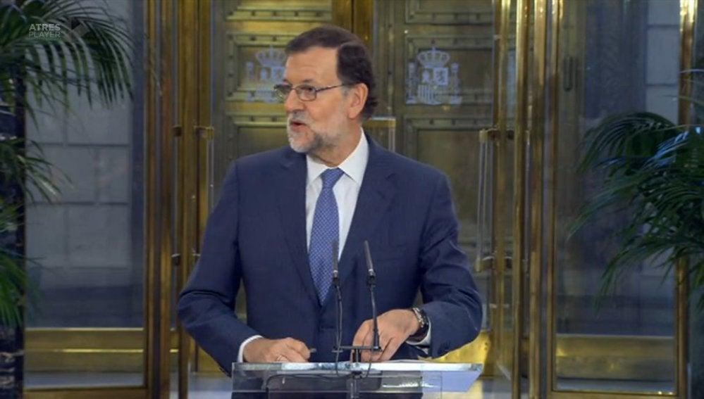 El presidente del Gobierno en funciones, Mariano Rajoy