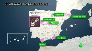 Frame 69.000119 de: El veto a las despedidas de soltero se extiende por España: el mapa de los municipios que las prohíben