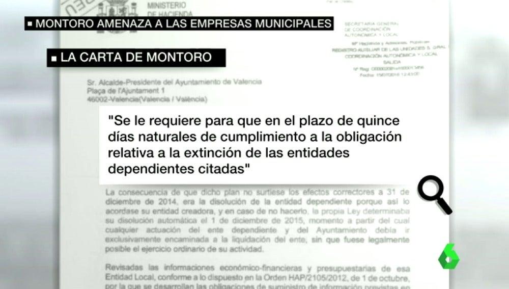 Carta del Ministerio de Hacienda a los ayuntamientos de toda España