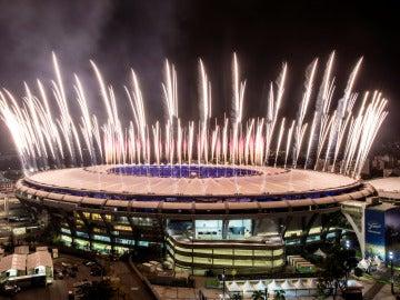 Ensayo en Maracaná previo a la ceremonia de inauguración de los JJOO
