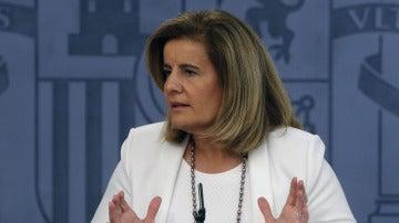 Fátima Báñez comparece tras un Consejo de Ministros