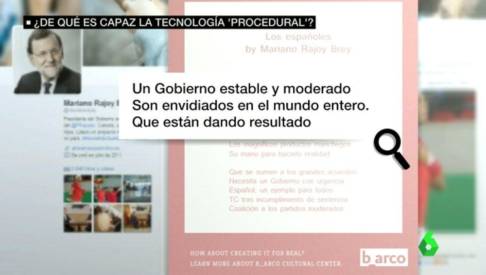 Frame 7.635862 de: Mariano Rajoy y Pedro Sánchez, poetas en Twitter gracias a la tecnología procedural
