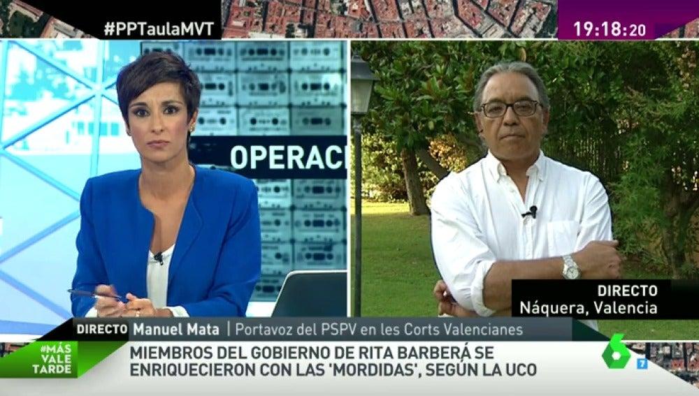 """Frame 17.753509 de: Manuel Mata: """"Lo de Barberá es una protección que excede a lo racional, alguien tiene que dar la cara"""""""