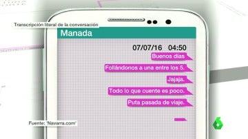 La conversación de 'La Manada' por violación en San Fermín