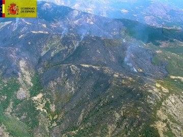 Incendio en el Valle del Jerte