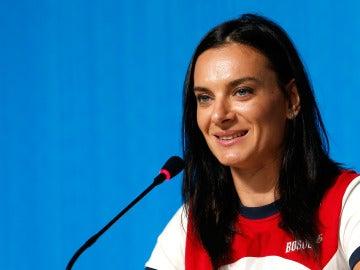 La atleta rusa Yelena Isinbáyeva