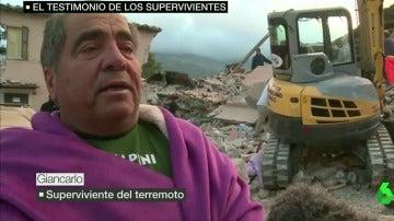 Giancarlo, superviviente del terremoto en Italia