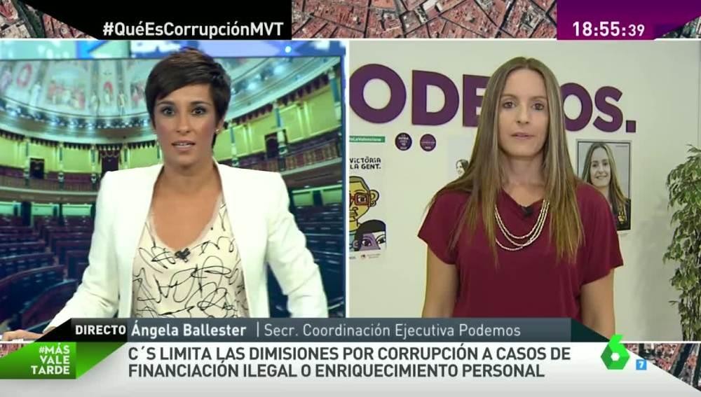 Ángela Ballester dice que hay una alternativa tras el fracaso de Rajoy