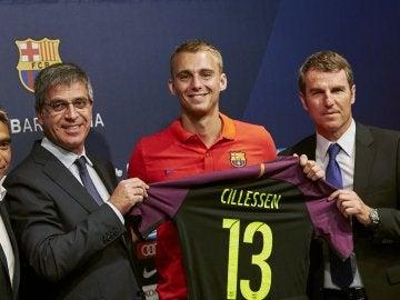 Jasper Cillesen, presentado como nuevo jugador del F.C Barcelona