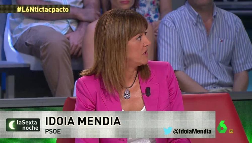 Idoia Mendia (PSOE) en laSexta Noche