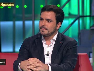 Alberto Garzón durante la entrevista en laSextaNoche
