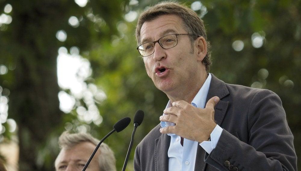 Feijóo en el acto de apertura del curso político en Galicia