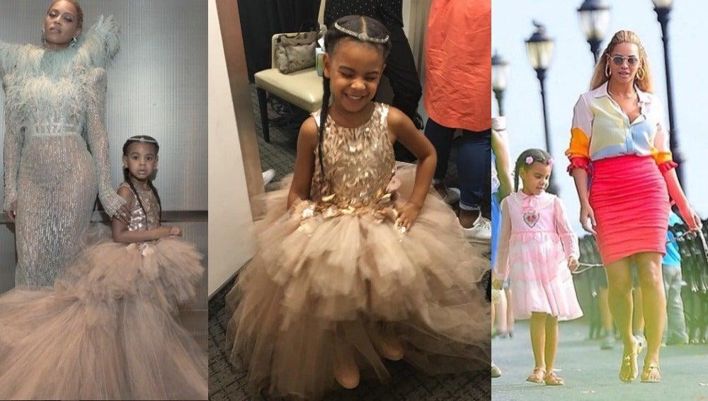 Imágenes de Beyonce y su hija.
