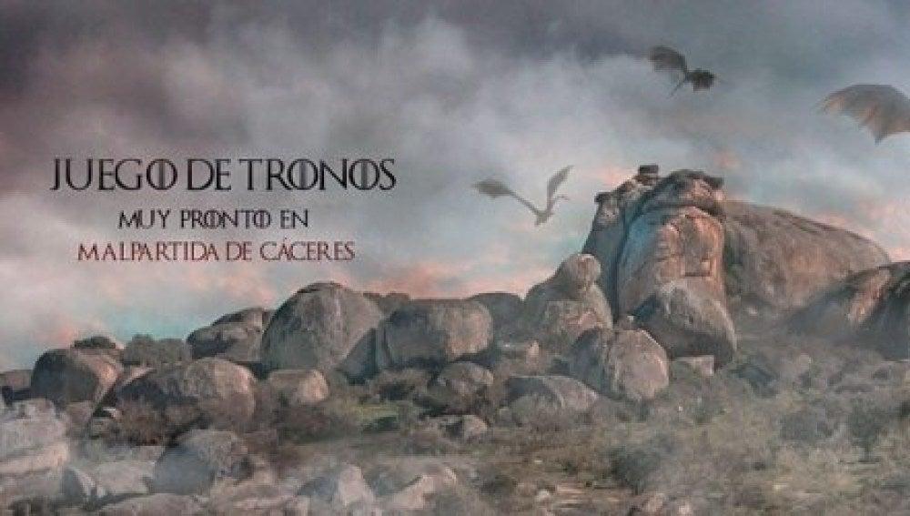 Cartel publicitario del Ayuntamiento de Malpartida de Cáceres