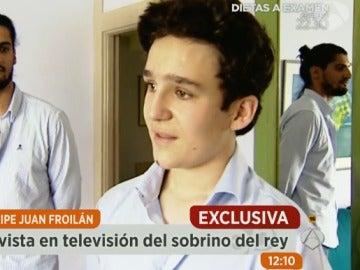 Primera entrevista de Froilán en televisión