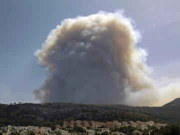Fuego en Xàbia