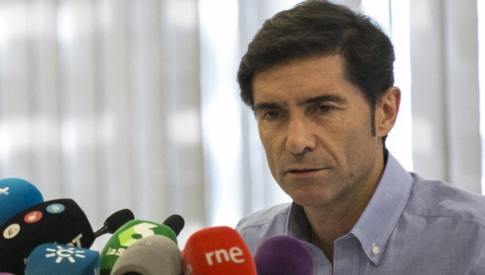 Marcelino en rueda de prensa