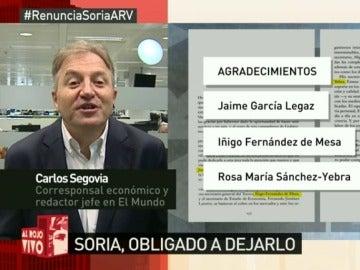 Soria y miembros de la comisión evaluadora, protagonistas en los agradecimientos del libro de De Guindos