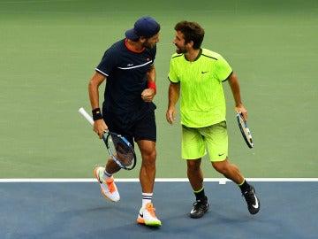 Feliciano López junto a Marc López en el Abierto de Estados Unidos