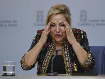 Rosa Valdeón durante una rueda de prensa convocada tras ser arrestada triplicando la tasa de alcohol en sangre