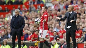 Pique entre Guardiola y Rooney