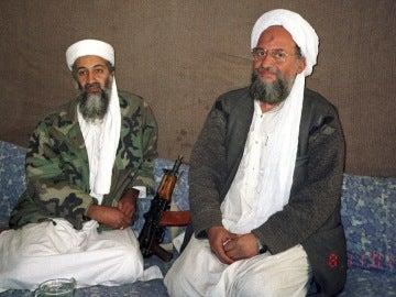 Osama Bin Laden (izqda) y Ayman al Zahawiri (dcha)