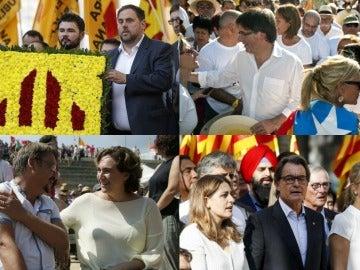 Montaje representantes políticos en la Diada
